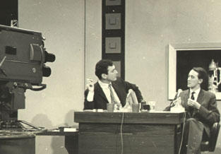 Don Lane and Clive on the set of Nine's Tonight Show