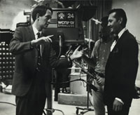 Clive directs magical host Dick Bishop in The Vanishing Art